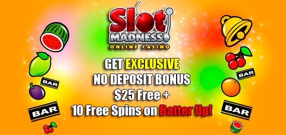 Slot Madness No Deposit Bonus